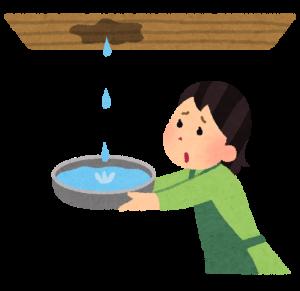 天井に雨染みが発生しているとシロアリが潜んでいる可能性が有る
