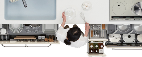 トクラス「ベリー」のキッチン収納はお料理も掃除も時短可能!