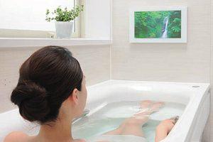 TOTOサザナには浴室テレビのオプションが有る!DVD等も視聴可能