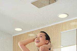 TOTOサザナのエアインオーバーヘッドシャワーはまるでスパの様な浴び心地!