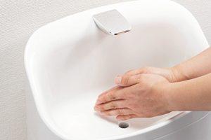 手洗い器は水ハネがしにくい