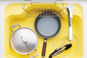 シンクは、コンパクトキッチンとしては最大クラス